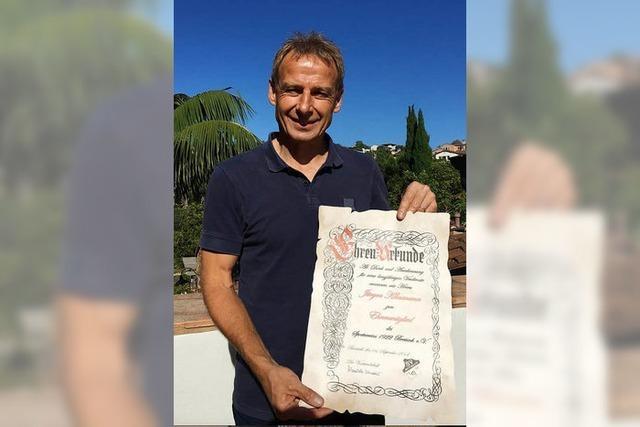 SV Breisach ernennt Jürgen Klinsmann zum Ehrenmitglied