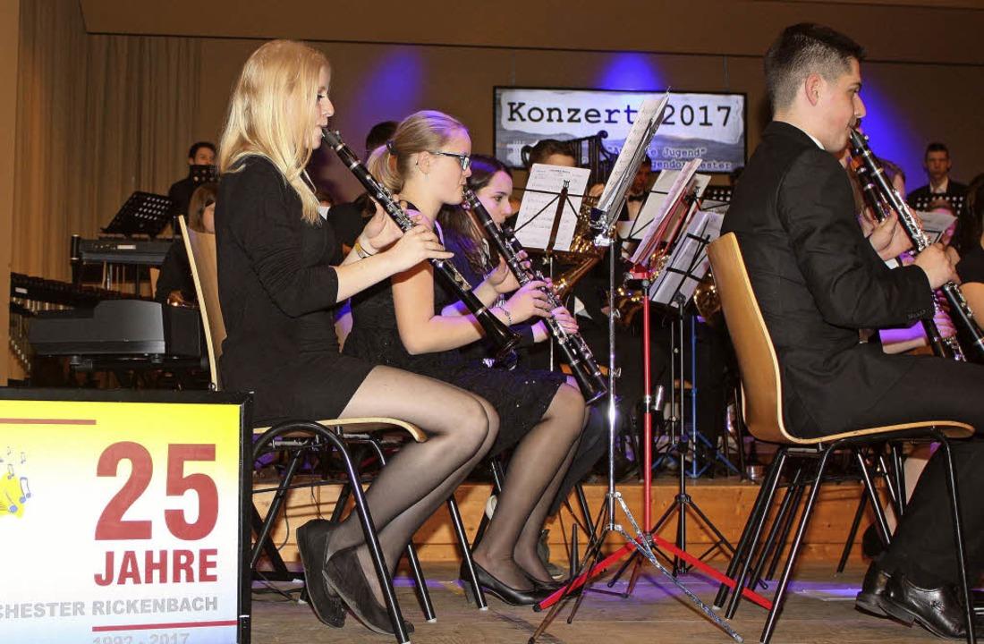Das Jugendorchester Rickenbach feiert ...hen Gästen sein 25-jähriges Bestehen.   | Foto: Privat