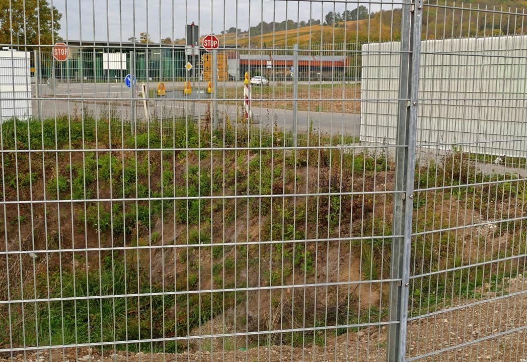 So wie die Mulde gegenüber der Bezirks...bei der Spvgg in Eimeldingen entsteht.    Foto: Langelott
