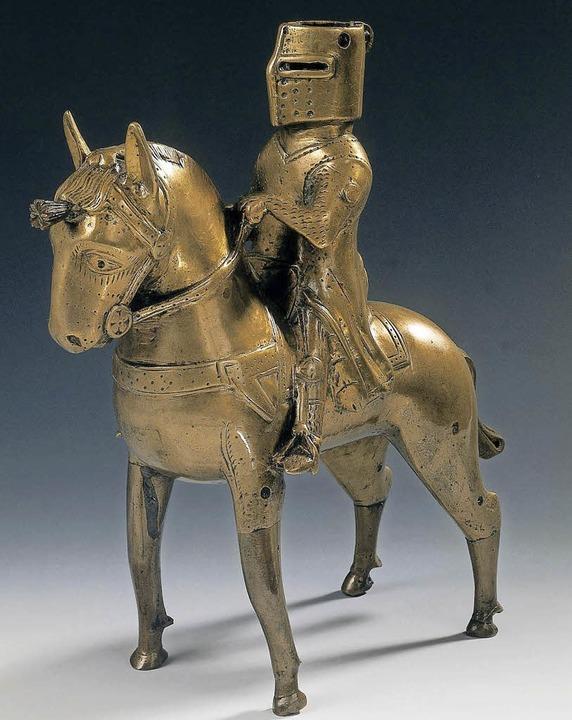 Die Aquamanile in  Form eines Ritters (13. Jahrhundert) diente als Gießgefäß.    Foto: National Museum of Denmark