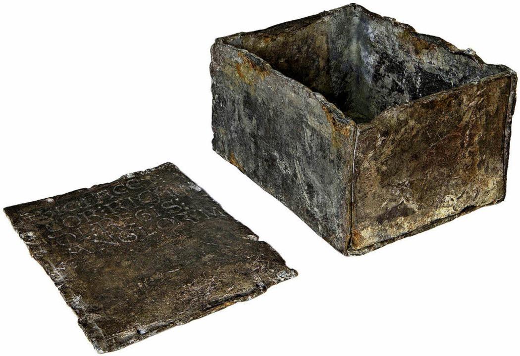 In diesem Bleikästchen wurde des Königs Herz beigesetzt.     Foto: Couchaux
