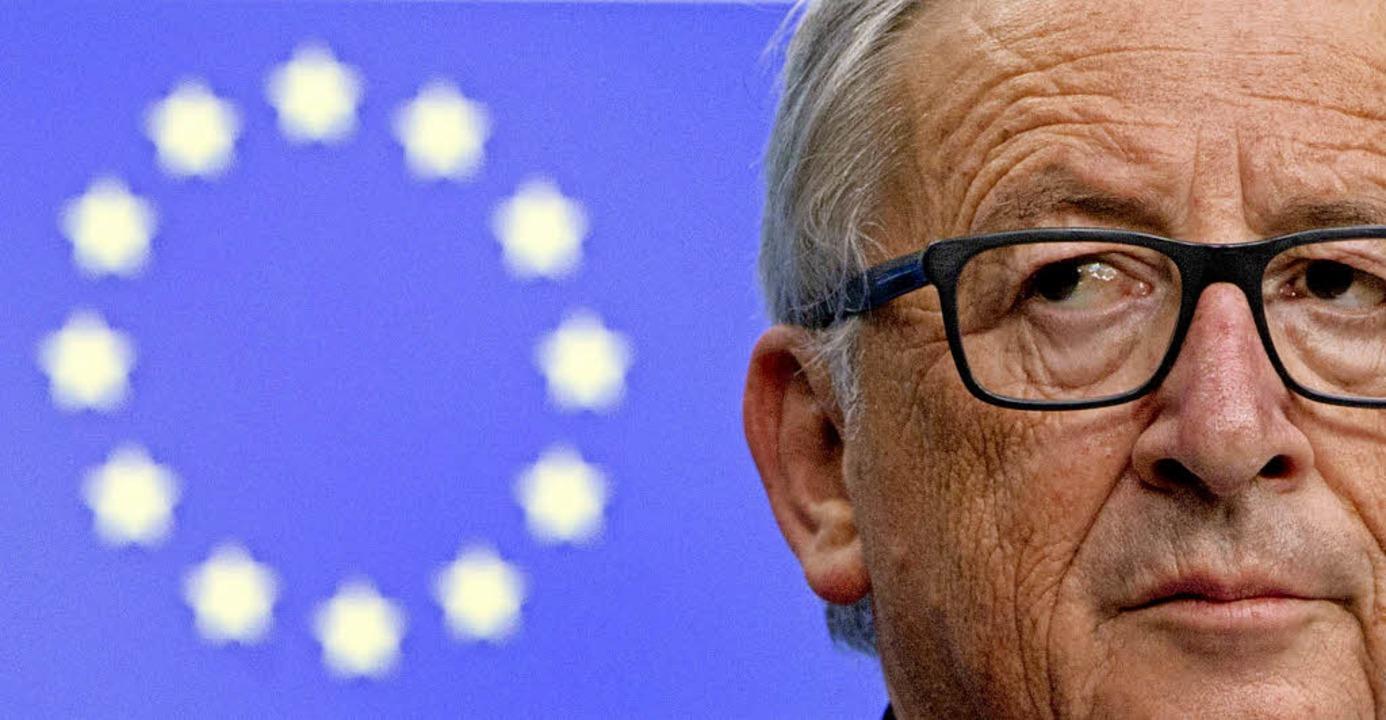 Kommissionspräsident Jean-Claude Junck...liedsländer für die EU zu begeistern.   | Foto: DPA