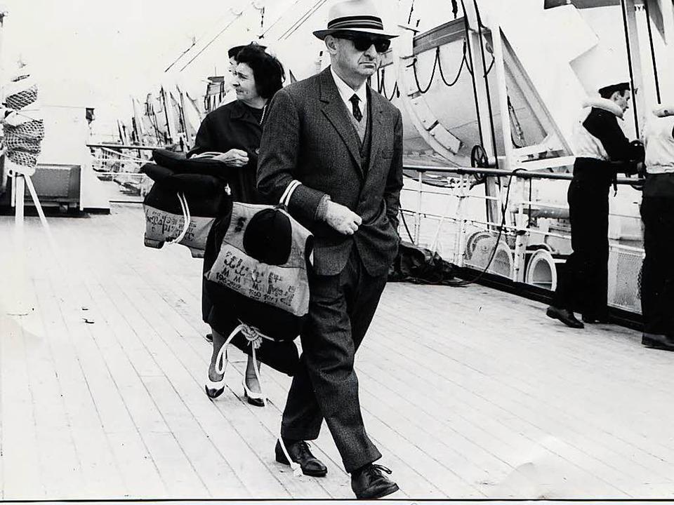 Hermann Kesten und seine Frau Toni 1965 am Hafen von Quebec   | Foto: nachlass Hermann Kesten
