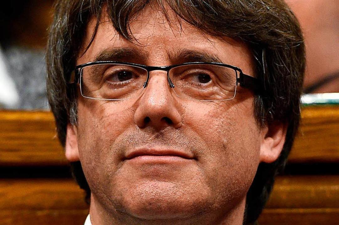 Gegenspieler Rajoys: der katalanische  Regierungschef Carles Puigdemont    Foto: AFP