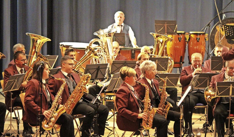 Die Wiechser Musiker mussten für ihr K...nd auf die Idee  für das Konzertmotto.    Foto: Anja Bertsch