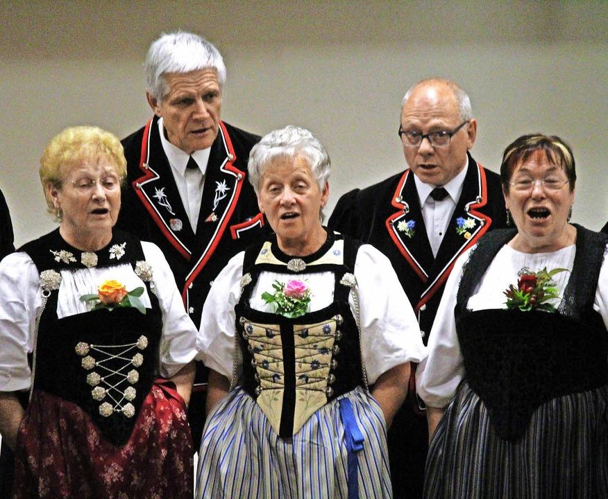 Der Jodlerclub Lengnau  aus dem Aargau war zu Gast.     Foto: Klabund