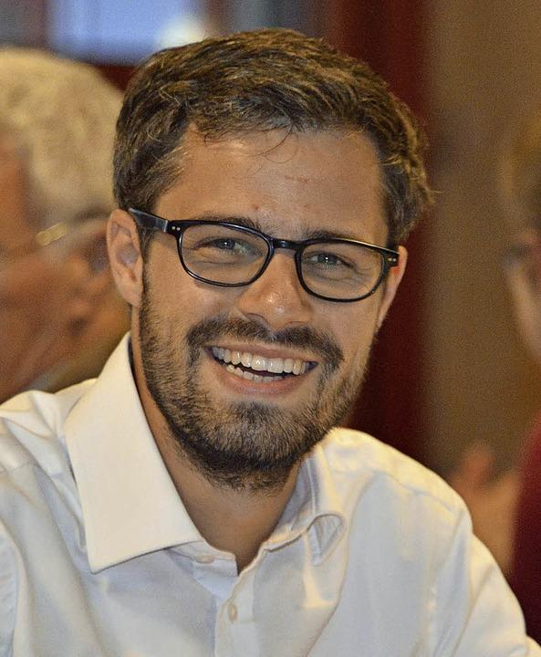 Julien Bender freut sich über seinen Wahlerfolg.  | Foto: Michael bamberger