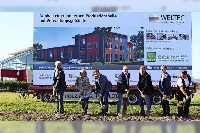 Firma Weltec zieht von Merzhausen nach Merdingen