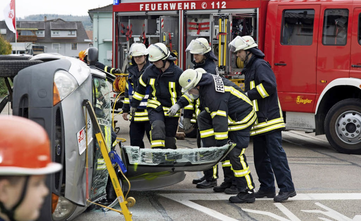 Demonstrationen der Feuerwehr gehörten...nprogramm der Ettenheimer Energietage.  | Foto: Olaf Michel