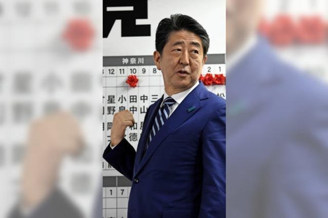 Haushoher Sieg für Regierungschef Shinzo Abe