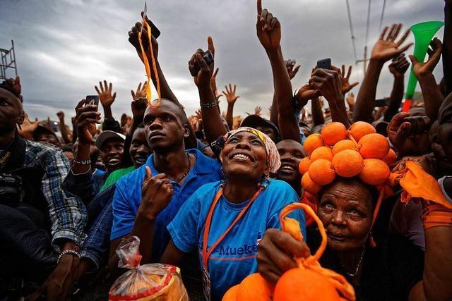 In Kenia kommt es im Vorfeld der Wahl zu Protesten