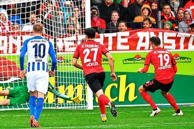 1:1 – SC Freiburg schafft nur ein Remis gegen Hertha BSC
