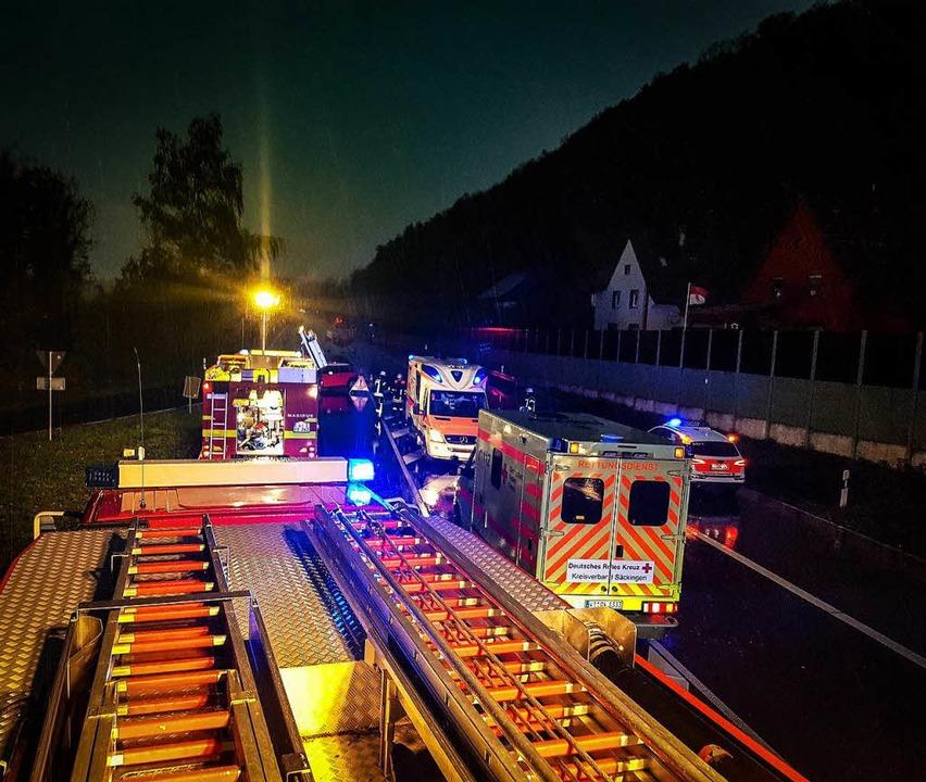 Die Feuerwehren Wehr und Öflingen waren im Einsatz.   | Foto: Feuerwehr Wehr