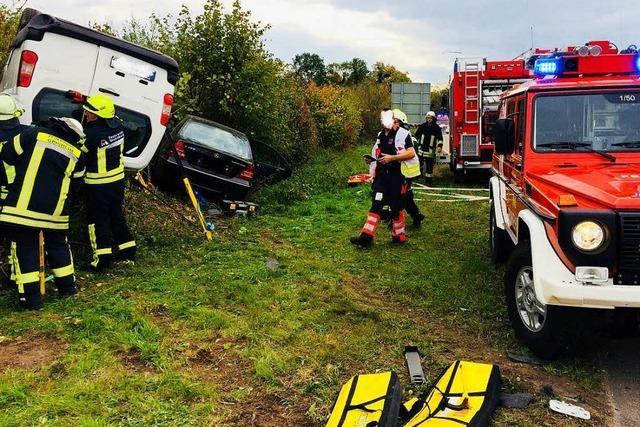 Schwerer Unfall auf L134