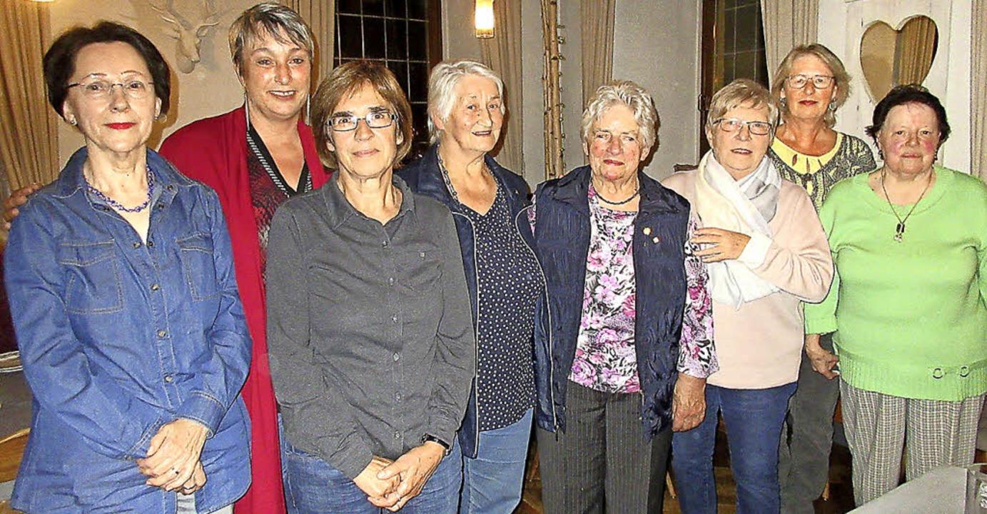 Verabschiedet wurden aus der Vorstands...ulitta, Rita Dries und Maria Sunderer.  | Foto: Reiner Merz