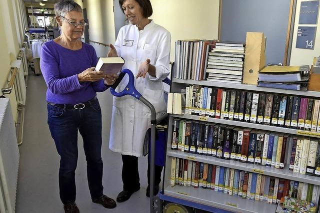 Patientenbibliothek bringt das Buch zum Leser