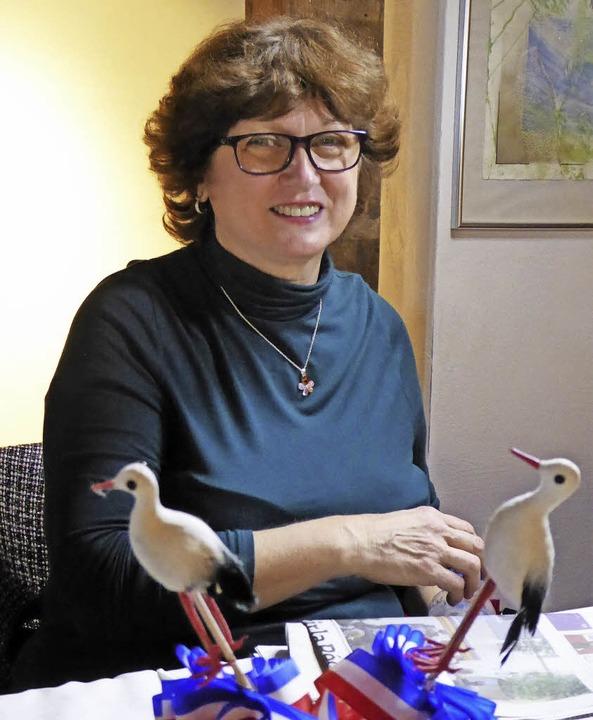 Die Hebelplakettenträgerin von 2011, L... Bertolini, war im Hebelhaus zu Gast.   | Foto: Privat