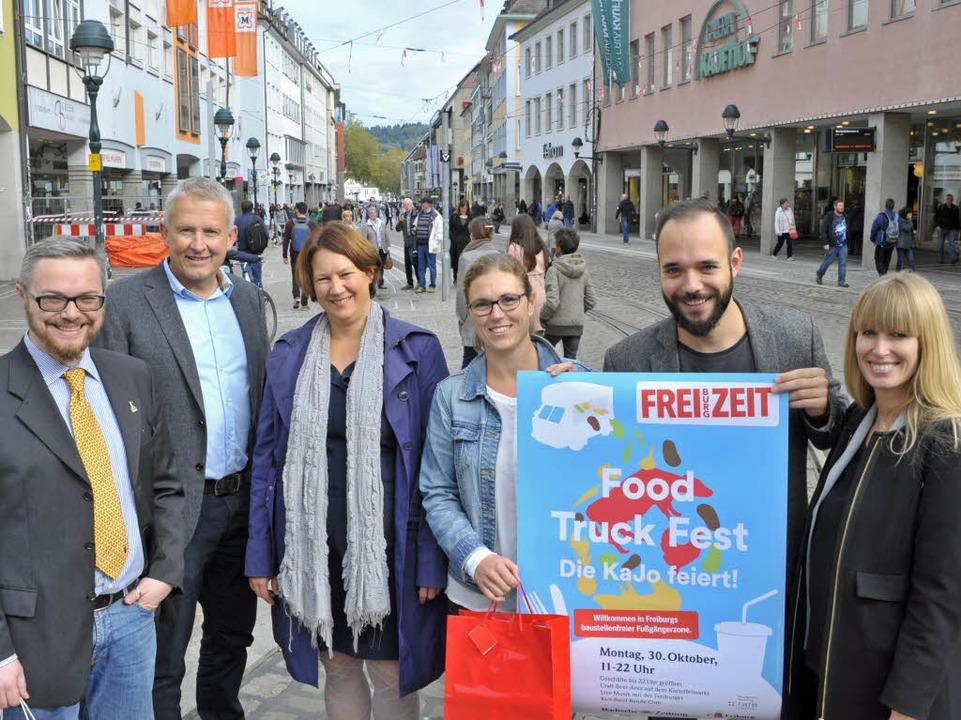 Freuen sich gemeinsam auf den Food Tru...ikt Metzger (BZ) und Svenja Stärk (BZ)    Foto: Michael Bamberger