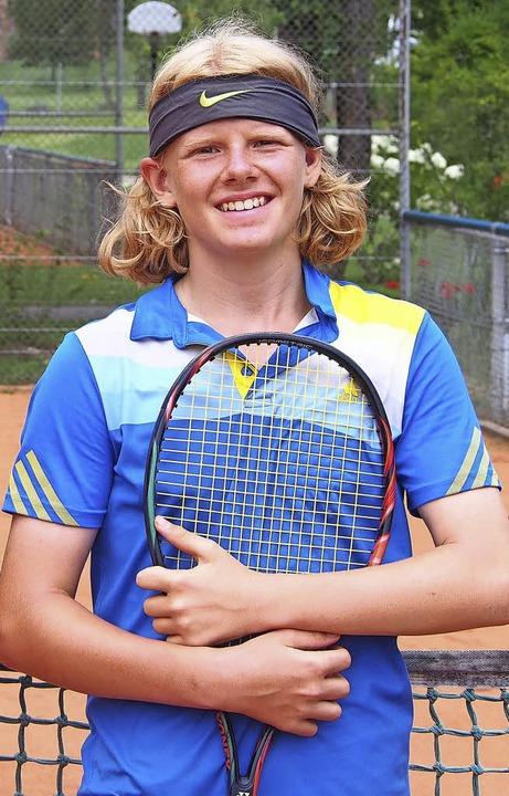<BZ-FotoAnlauf>Tennis:</BZ-FotoAnlauf>...s Vinarski ist im Bezirk vorne dabei.     Foto: Veerhoff
