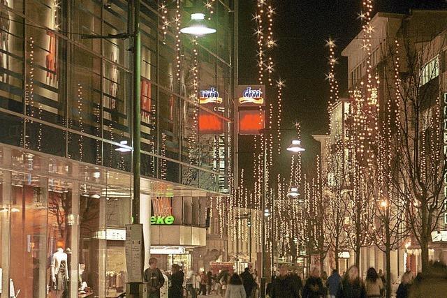 Mehr als 22 000 Lichtpunkte erhellen die Innenstadt