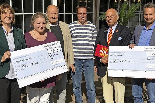 Krozinger Rotarier spenden 9000 Euro