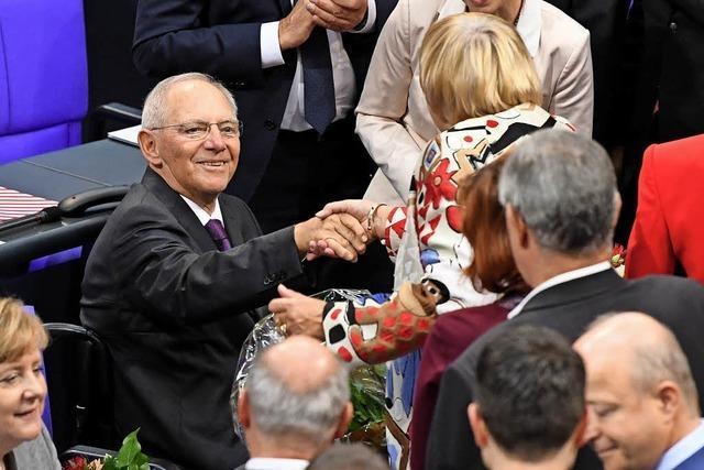 Schäuble ist Bundestagspräsident, AfD ist beleidigt