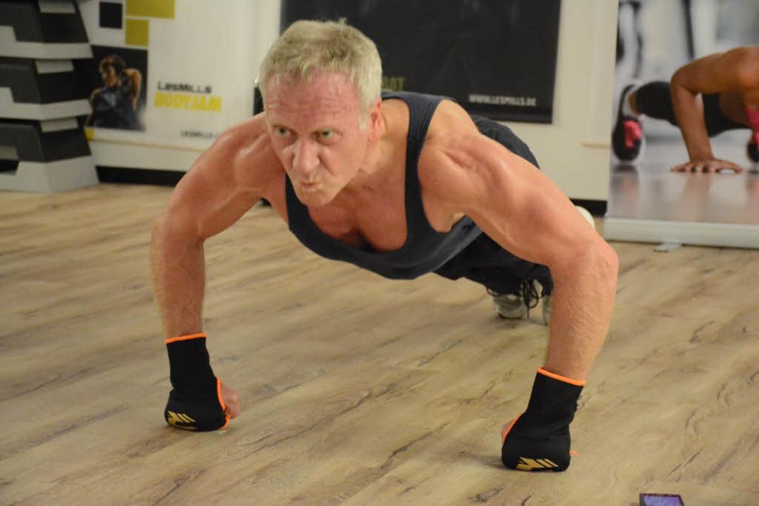 Roman Dossenbach im Training  | Foto: Hannes Lauber