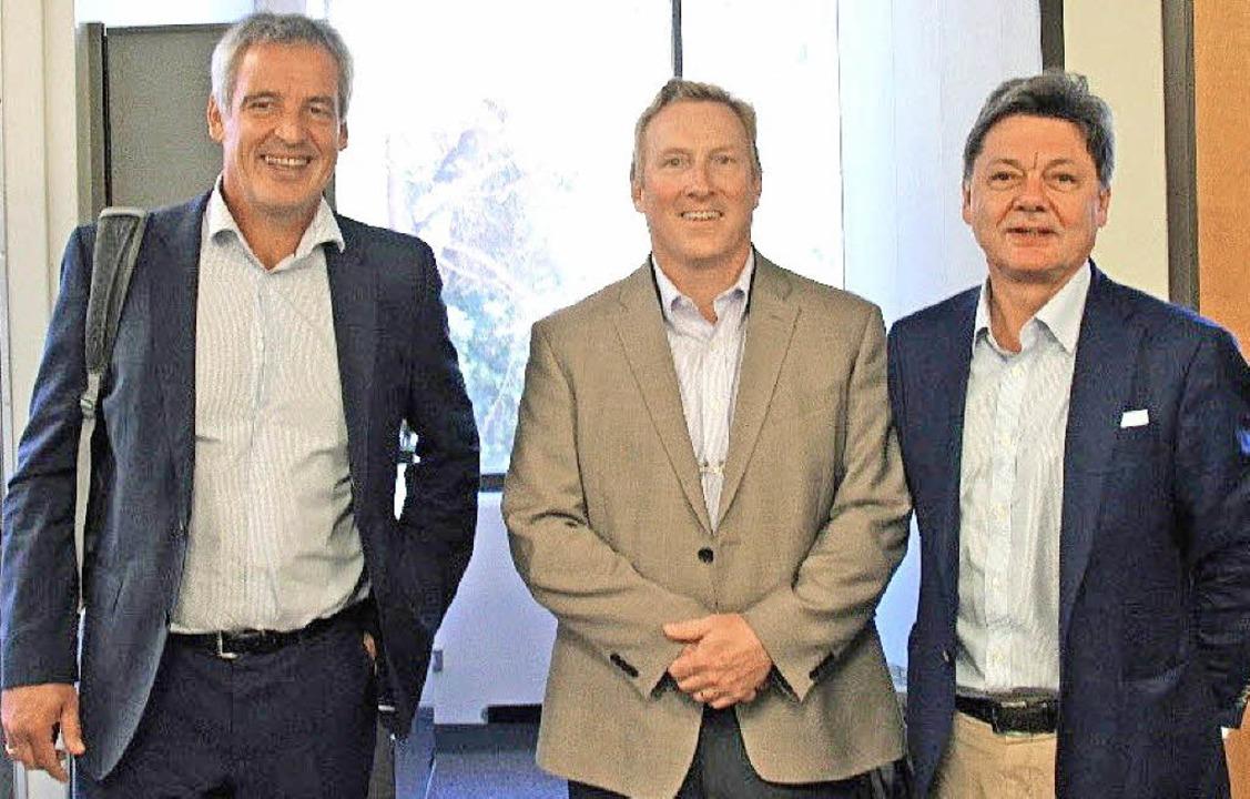 Die Gesprächspartner in Santa Barbara:...n links), Bob York und Theodor Sproll   | Foto: DHBW Lörrach