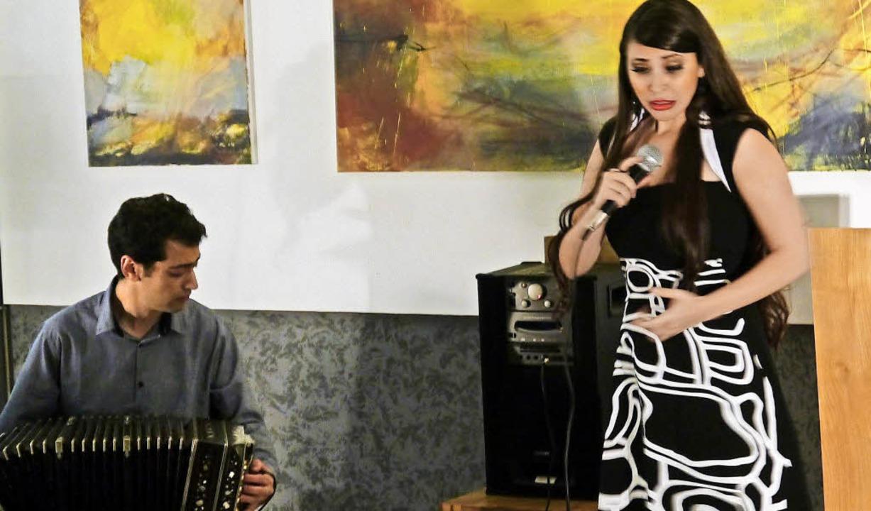 Gabriel Merlino und Vanian Tagini im Atelier L 21   | Foto: Heidi Ast