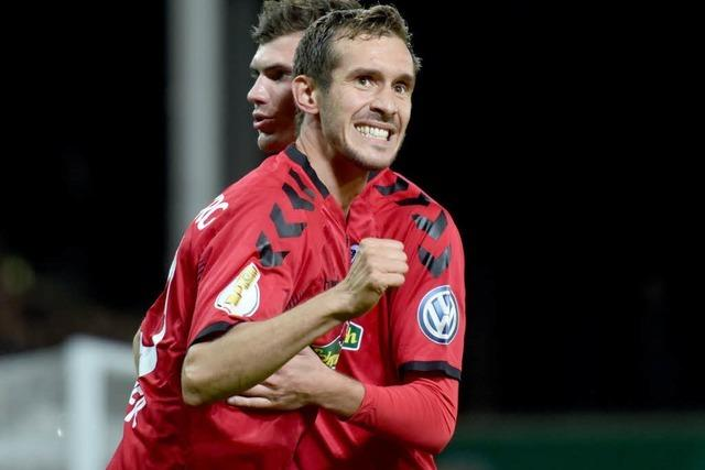 SC Freiburg gewinnt 3:1 gegen Dresden und zieht ins Achtelfinale ein