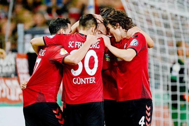 Sportclub besiegt Dresden mit 3:1 und ist im Achtelfinale