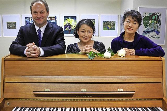 Mit Markus Kern, Kaoru Yamamoto und Yuki Ohira in Bernau