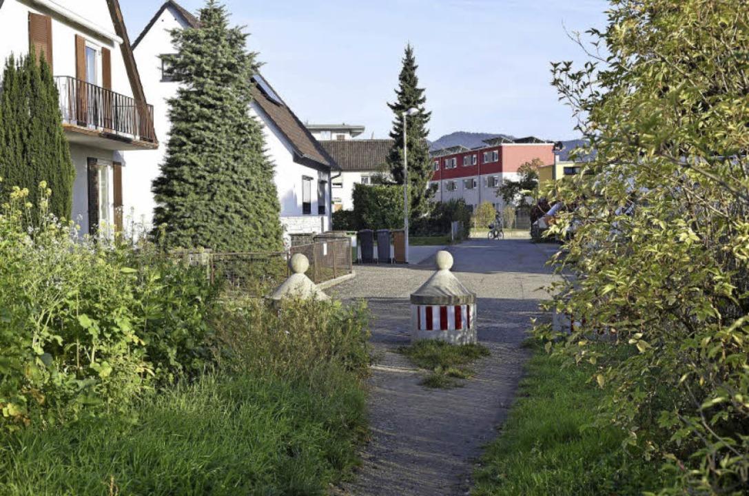 Ende Gelände: Bislang ist der Moosacke...dhof verlängert und ausgebaut werden.   | Foto: Thomas Kunz