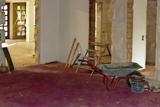 Das künftige Rathaus ist jetzt soweit leer geräumt