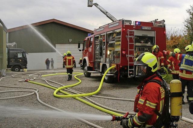 Feuerwehr simuliert Löscheinsatz