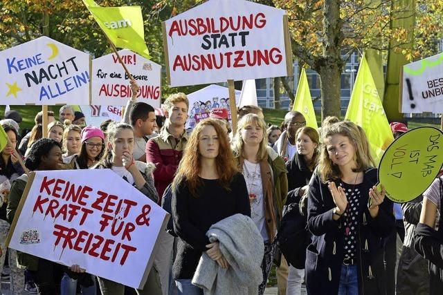 Protest der Pflegekräfte