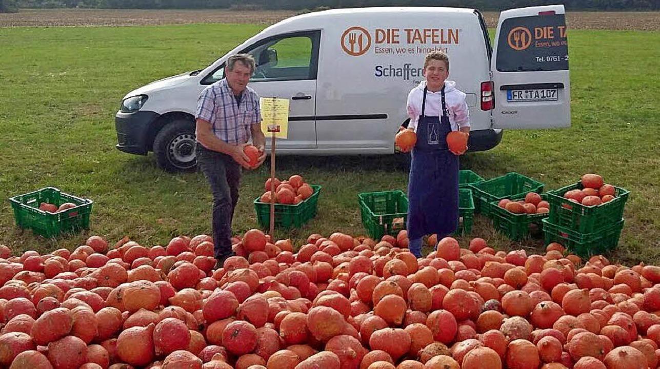 <BZ-FotoAnlauf>Gemüse: </BZ-FotoAnlauf>Kürbisse gab&#8217;s für die Tafel.    | Foto: Privat/Thomas Kunz