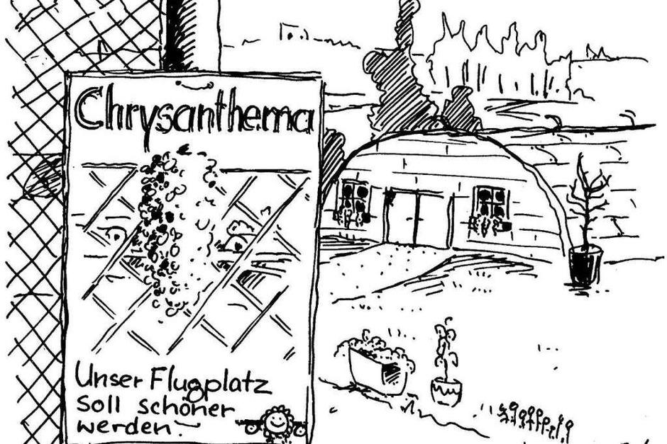 Unser Flugplatz  soll schöner werden (die erste Zeichnung vom 8.11.1997) (Foto: Andreas  Krellmann )