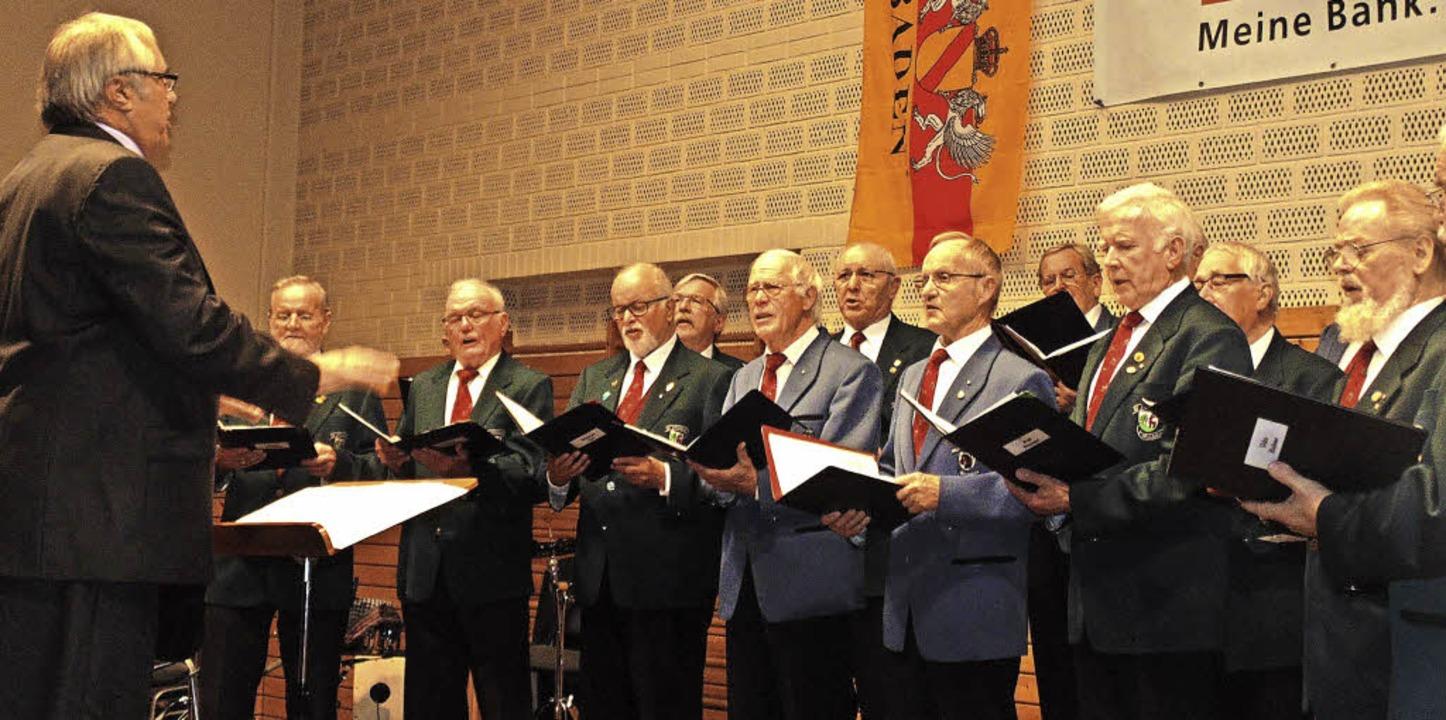 Die Gesangvereine Öflingen und Wallbach unter Leitung von Martin Setz  | Foto: Michael Gottstein