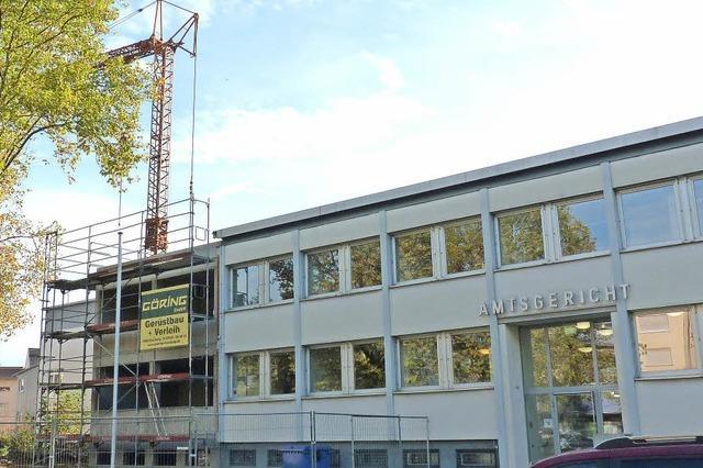 Das Bad Säckinger Amtsgericht wird durch einen Anbau erweitert