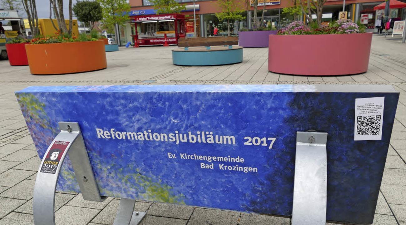 Das Lutherjahr brachte viele besondere...er Reformationsbänke in Bad Krozingen.    Foto: Hans-Peter Müller