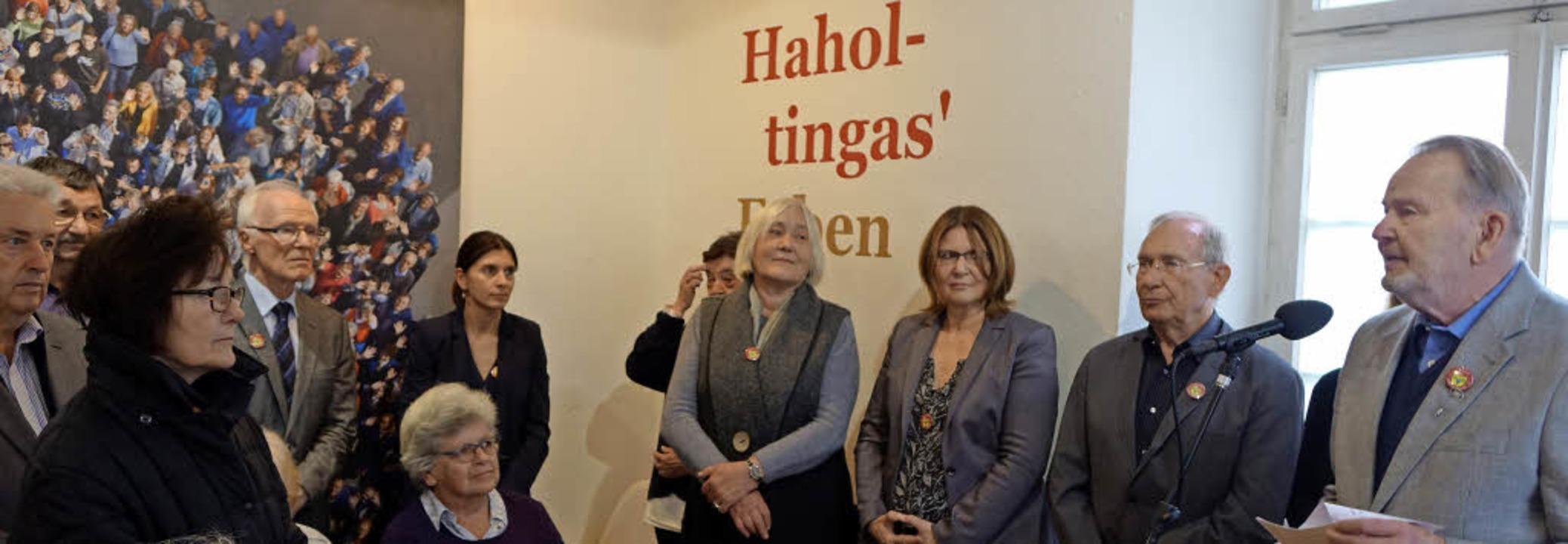 Zum letzten Mal in seiner Funktion als...e Haltingen im Museum am Lindenplatz.   | Foto: ROSWITHA FREY