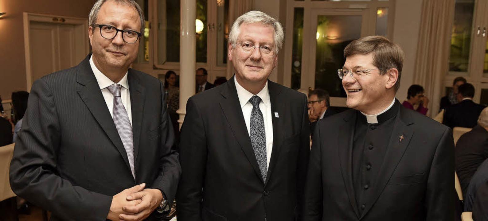 Andreas Voßkuhle, Hans-J. Schiewer und Stephan Burger  | Foto: Eggstein