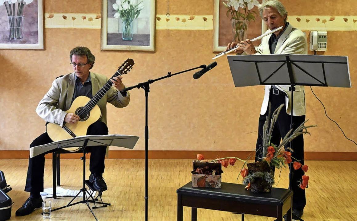 Das Duo Legretto mit kleinen, aber feinen Liedern  | Foto: Wolfgang Künstle