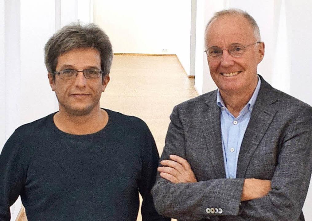 Martin Sander (links) und Christoph Jo...ind auf das Verkaufsangebot gespannt.   | Foto: Trauden