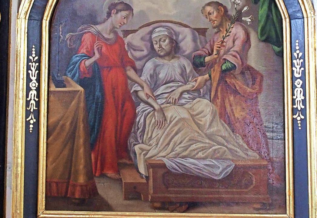 Das Bild des heiligen Joachim in der F...en Betrachtern unentdeckt, <ppp></ppp>  | Foto: Thomas Mutter