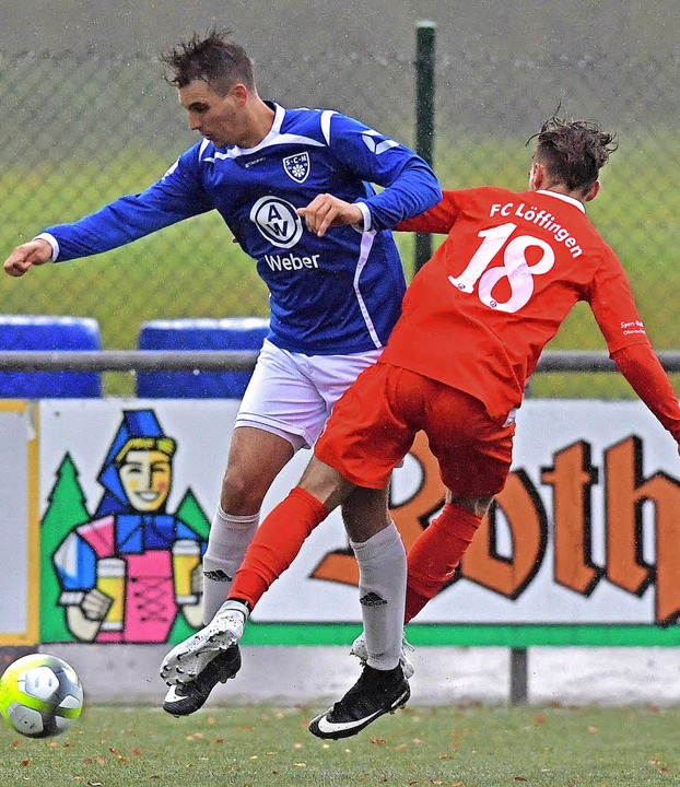 Löffingens Stürmer Kevin Hoheisel (Nr.... im Haslachstadion das Tor des Tages.   | Foto: W. Scheu