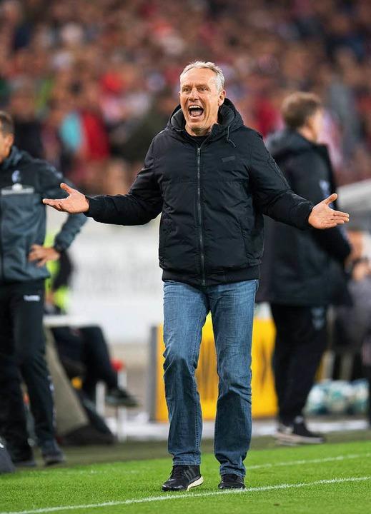 Versteht die Welt nicht mehr: Trainer Christian Streich  | Foto: dpa