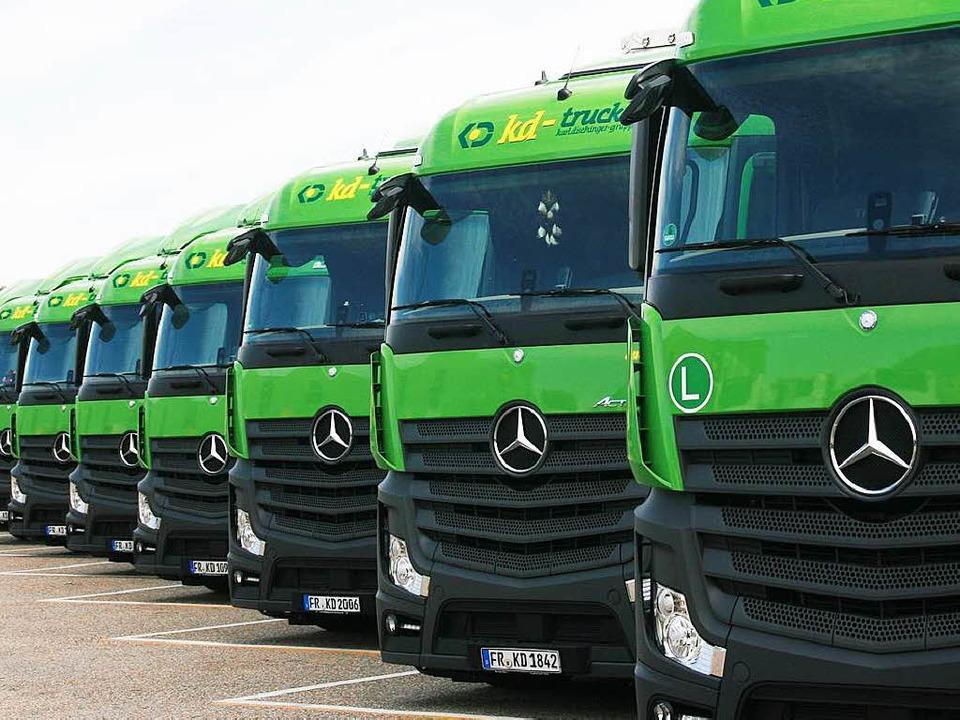 Mehr als 600 Tonnen transportiert die grüne Armada täglich.  | Foto: Dischinger