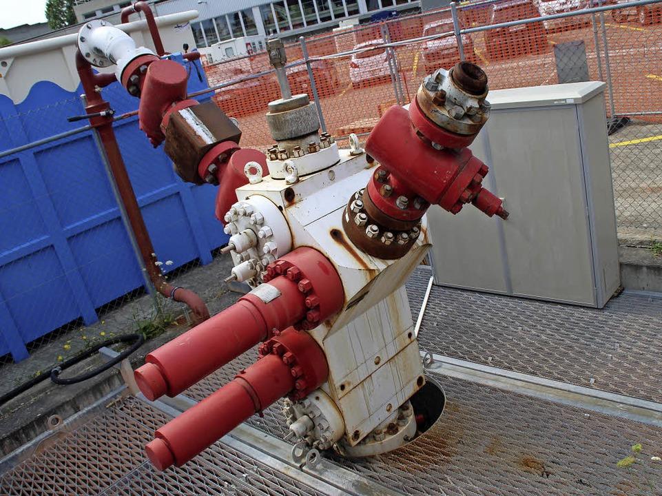 Das Bohrloch in Basel     Foto: Reissmann